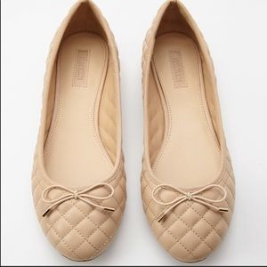 Forever 21 Quilted Ballet Flats in Beige- Size 8.5
